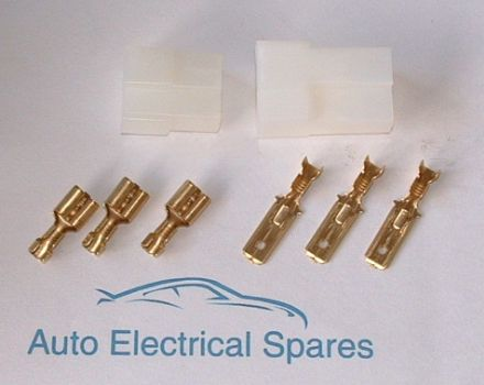 3 way Male / Female Multi Plug Connector
